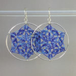 Fairfax earrings in blueberry silk, sterling silver
