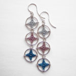 Triple spangles earrings in beach colors