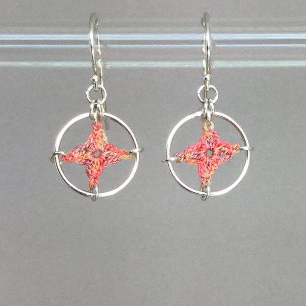 Spangles 1 earrings, silver, confetti thread