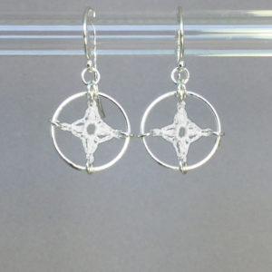 Spangles 1 earrings, silver, white