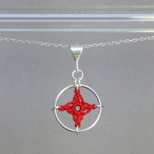 Spangles 1 necklace, silver, red