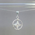 Spangles 1 necklace, silver, pearly thread
