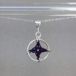 Spangles 1 necklace, silver, purple thread