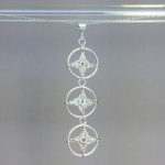 Spangles 3 necklace, silver, pearly thread